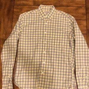 Checkered J. Crew Tailored Oxford Shirt